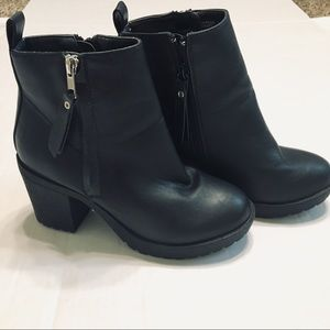 Rampage chunky heel ankle boots